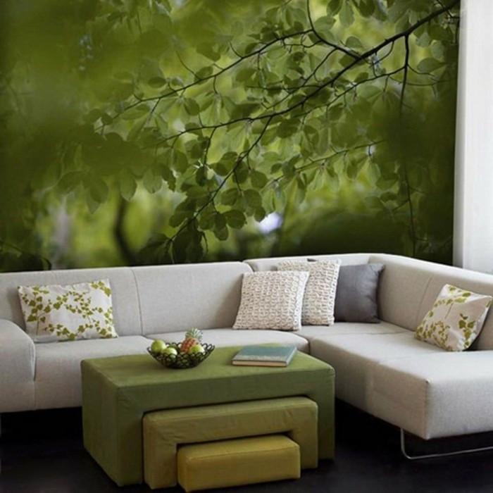 Fototapete Wohnzimmer  3D Tapete für eine tolle Wohnung Archzine