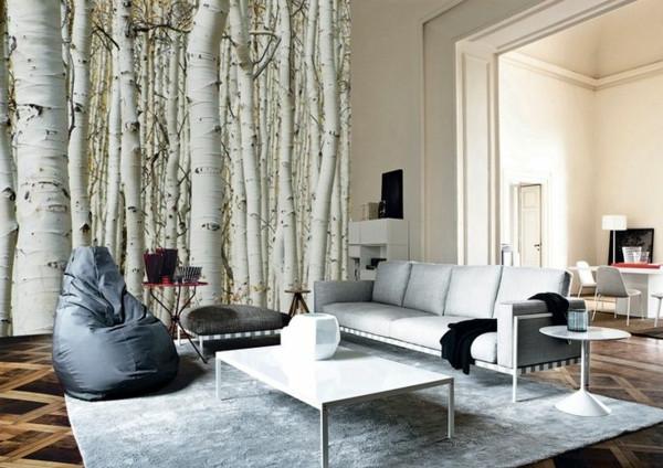 Fototapete Wohnzimmer  40 Ideen mit Fototapete Wald lassen Sie Natur ins