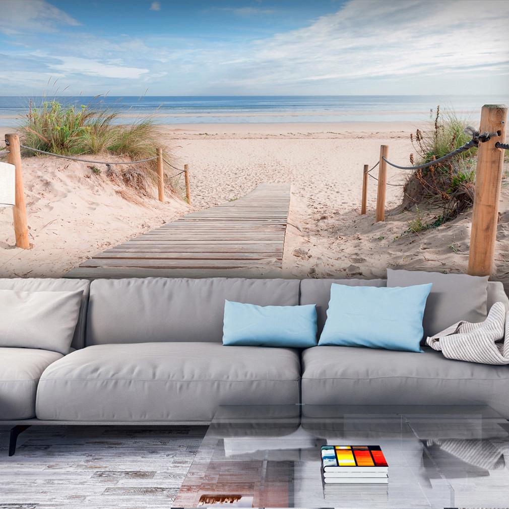 Fototapete Wohnzimmer  VLIES FOTOTAPETE Strand Meer Himmel sepia TAPETE
