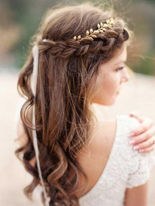 Frisur Hochzeit Offen  10 Hübsche Geflochtene Frisuren für Hochzeit Frisuren