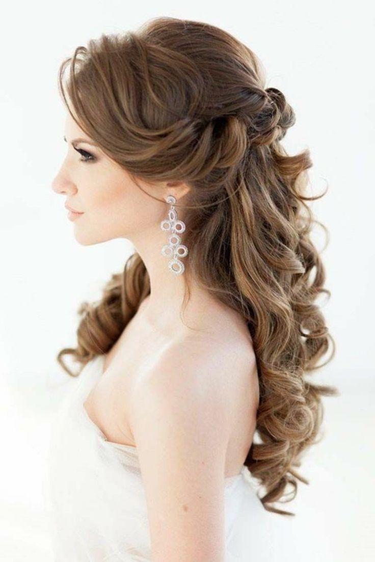 Frisur Hochzeit Offen  Die 25 besten Ideen zu Frisur Halb fen auf Pinterest