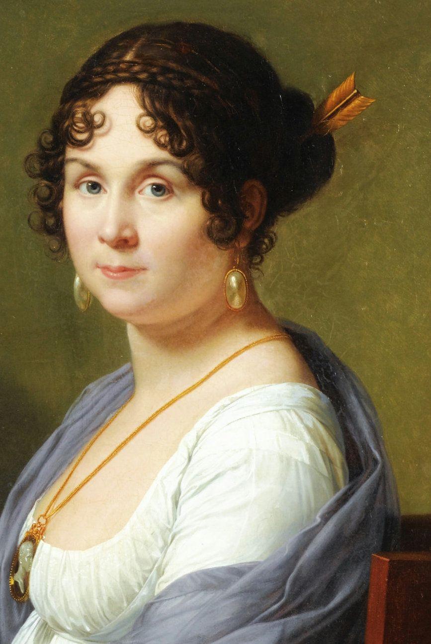 Frisuren 19 Jahrhundert  Francois Xavier Fabre 1766–1837 Portrait de Madam Louis