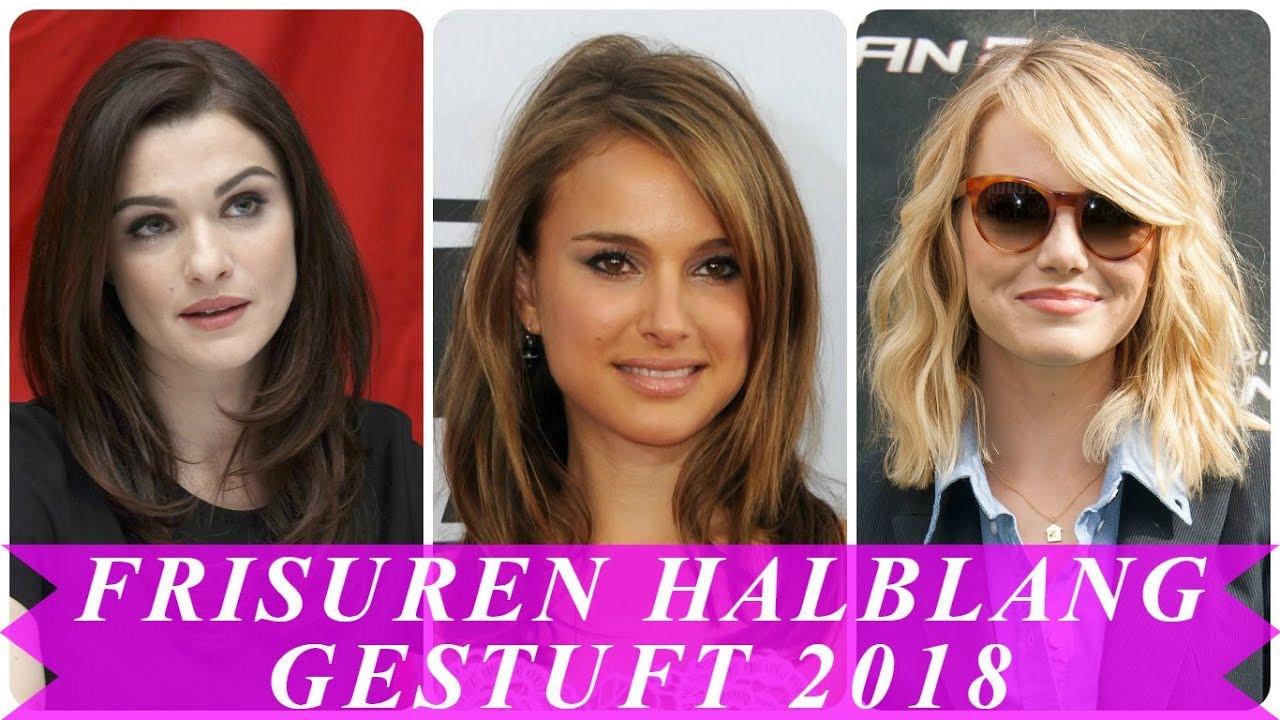 Frisuren Damen Schulterlang  Aktuelle frisuren 2018 schulterlang gestuft