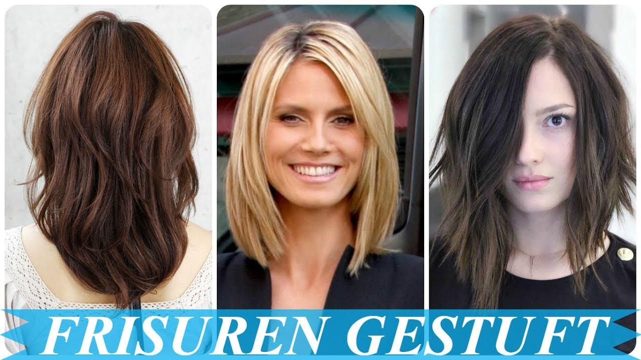 Frisuren Damen Schulterlang  Schöne frisuren schulterlang gestuft