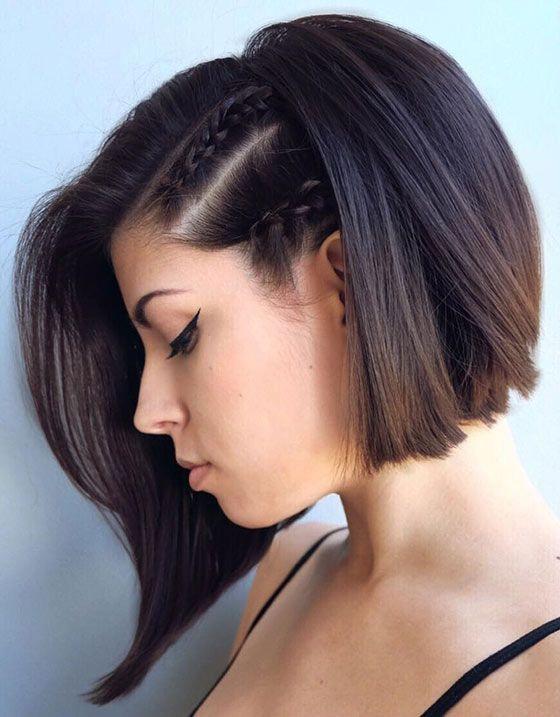 Frisuren Für Kurzes Haar  Beste kurze Bob Frisuren für feines Haar 2018 Trend