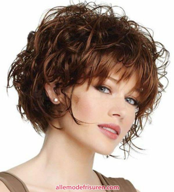 Frisuren Für Kurzes Haar  Kurze bob Frisuren für lockiges Haar – Trend Kurze Frisuren