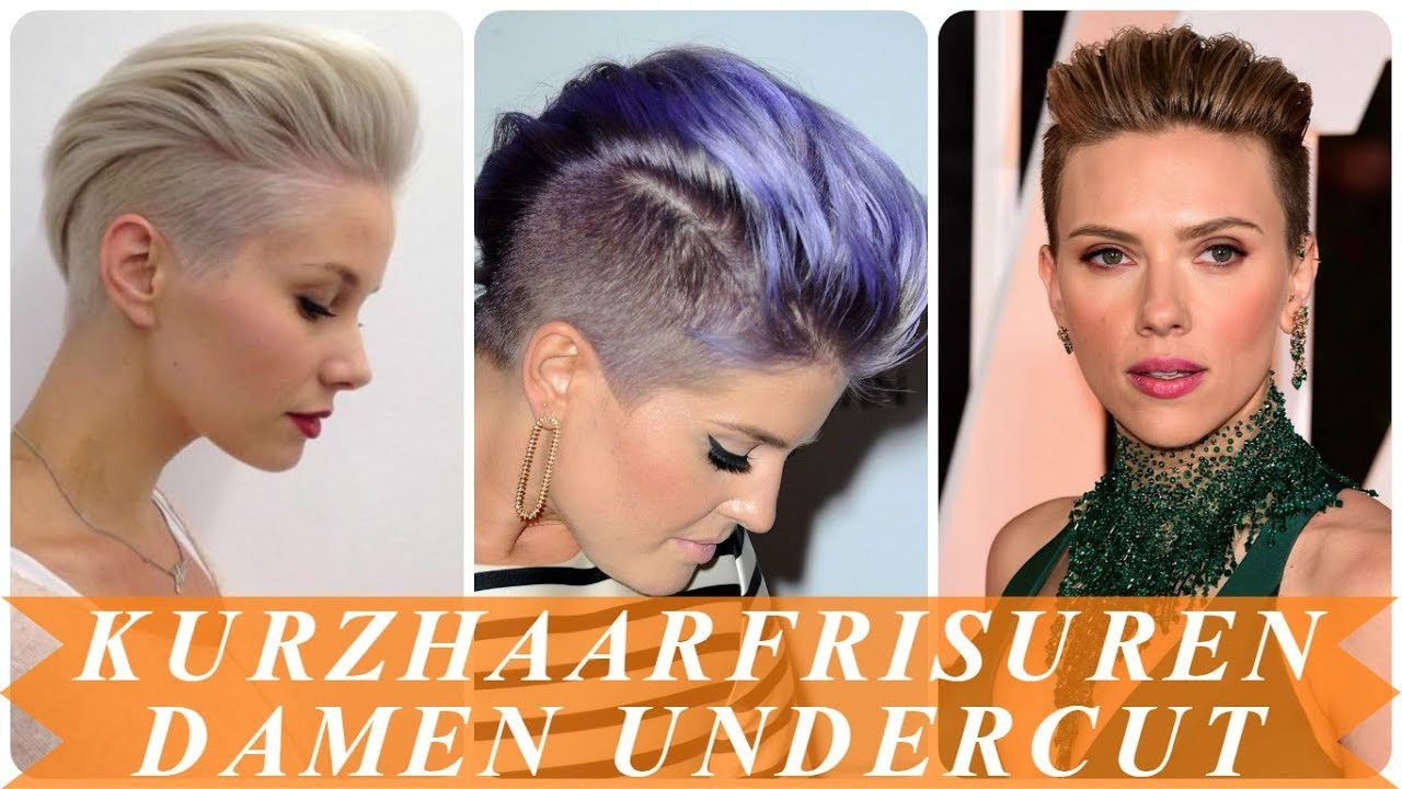 Frisuren Kurz Frauen  Schone undercut frisuren frau kurze haare 2018