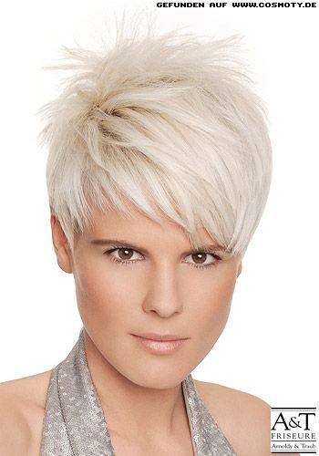Frisuren Kurz Frauen  Vom Wirbel aus gestylter Short Cut Kurz Frisuren Bilder