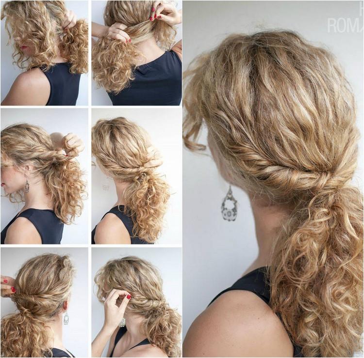 Frisuren Selber Machen Mittellang  40 Frisuren für Naturlocken zum Selbermachen mit Anleitung