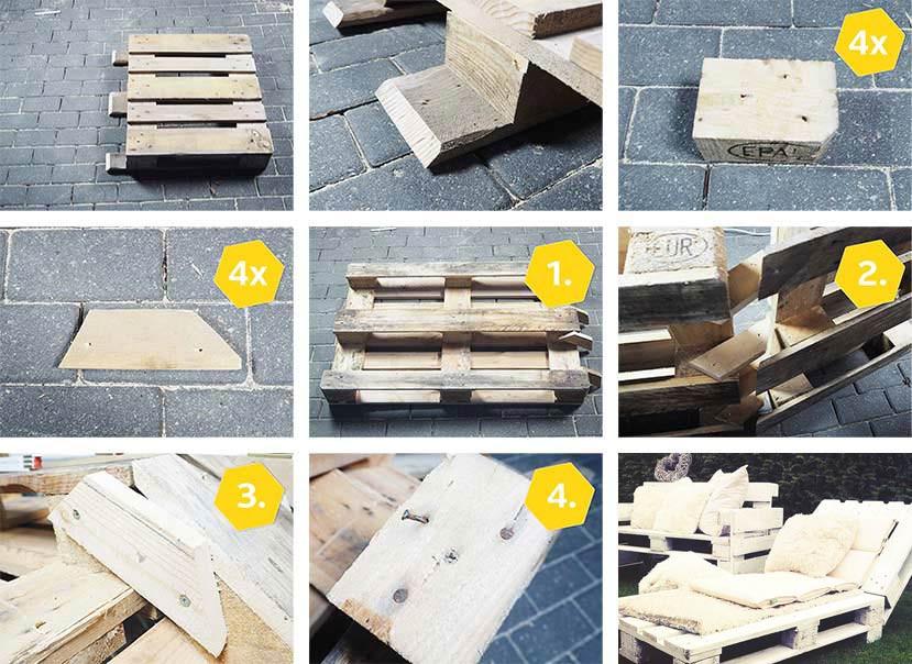 Gartenmöbel Selber Bauen  Gartenmöbel aus Paletten bauen ⇒ Schritt für Schritt