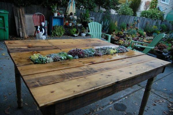 Gartenmöbel Selber Bauen  Gartentisch selber bauen Gartenmöbel Bastelideen