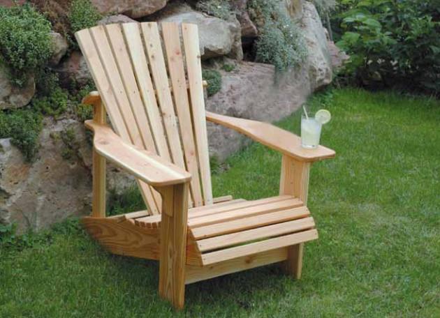 Gartenmöbel Selber Bauen  Gartenmöbel selber bauen Adirondack Sessel