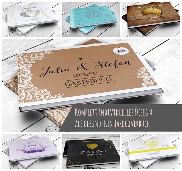 Gästebuch Hochzeit Fragen  Hochzeitsgästebuch PERSONALISIERTES Gästebuch Hochzeit