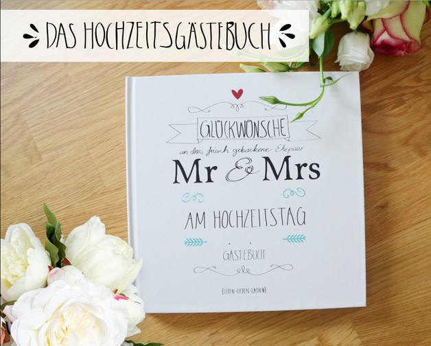 Gästebuch Hochzeit Fragen  Hochzeitsgästebuch Gästebuch Hochzeit mit Fragen ein
