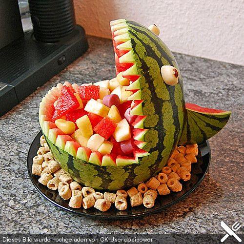 Geburtstagsfeier Essen  Melonen Hai Rezepte Recipes