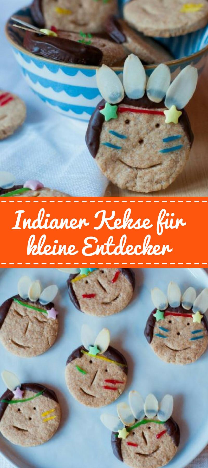 Geburtstagsfeier Essen  Indianer Kekse für kleine Entdecker Indianer