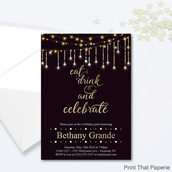 Geburtstagsfeier Ideen Erwachsene  Erwachsene Geburtstag Party Einladungen von