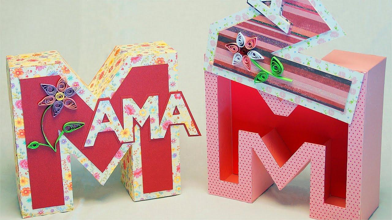 Geburtstagsgeschenke Mama  Muttertagsgeschenke basteln MAMA Geschenkbox