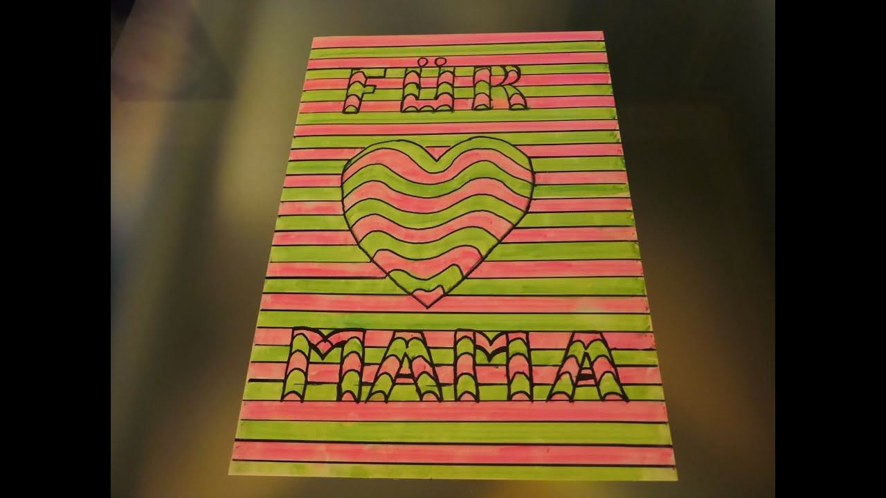 """Geburtstagsgeschenke Mama  DIY 3D Bild Herz """"FÜR MAMA"""" Geschenk zum Muttertag Mother"""
