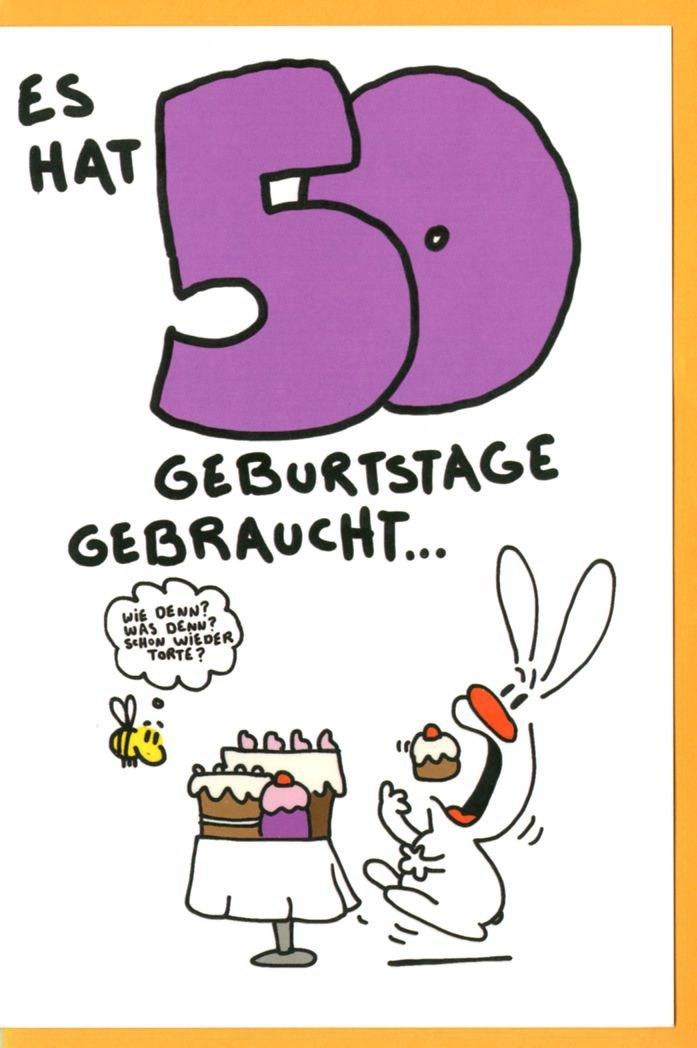 Geburtstagskarten 50  Geburtstagsspruch Alter Hase Geburtstagstorte