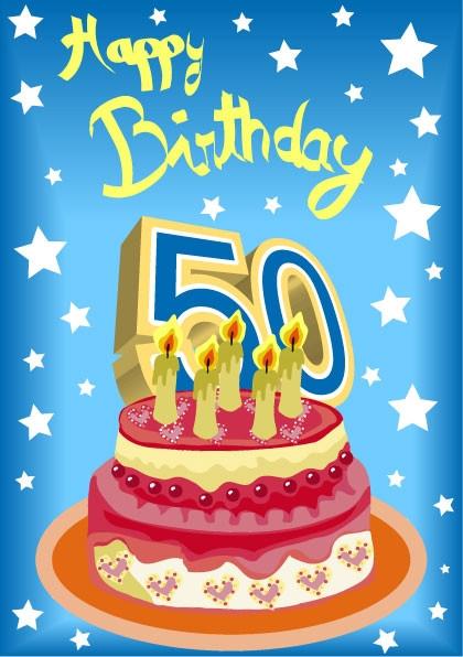 Geburtstagskarten 50  Zum 50´sten Foto & Bild