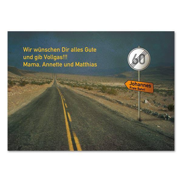 Geburtstagskarten 50  Personalisierte Postkarte zum Geburtstag