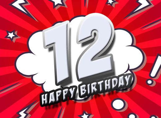 Lustige Geburtstagssprüche Zum 12 Geburtstag