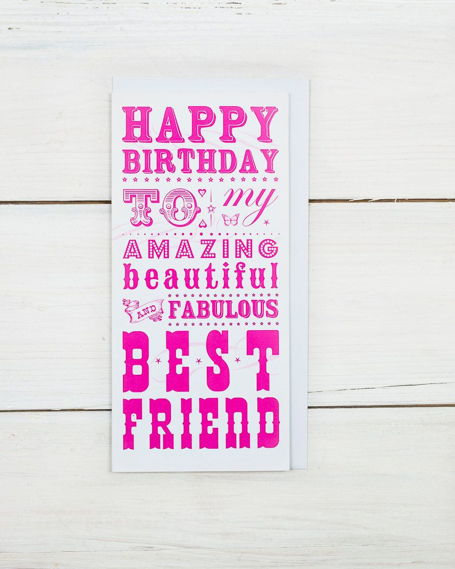 Geburtstagssprüche Für Meine Freundin  Alles Gute zum Geburtstag beste Freundin Karte von