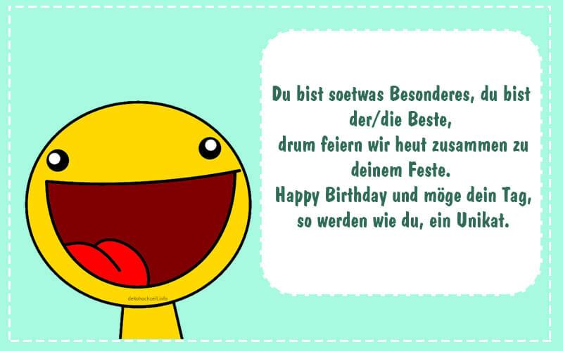 Geburtstagssprüche Lustig Kurz  Geburtstagssprüche Kurz und Lustig Einladungskarten