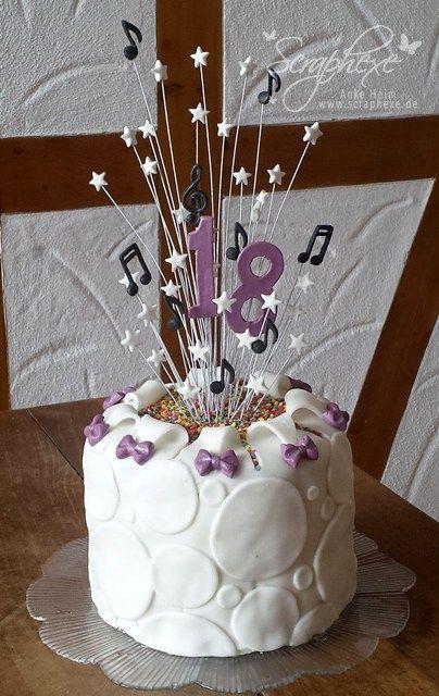 Geburtstagstorte 18. Geburtstag  Fondant Torte Geburtstag Geburtstagstorte Fondant 18