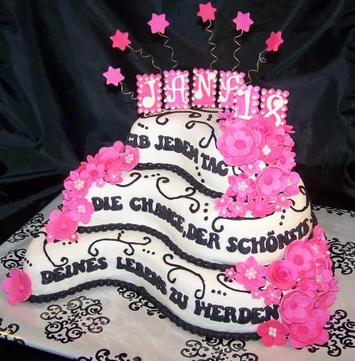 Geburtstagstorte 18. Geburtstag  Geburtstagstorte 18 Geburtstag Jana