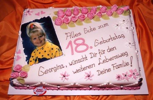 Geburtstagstorte 18. Geburtstag  Geburtstagstorte Zum 18 Geburtstag Rezepte Geburtstagstorte
