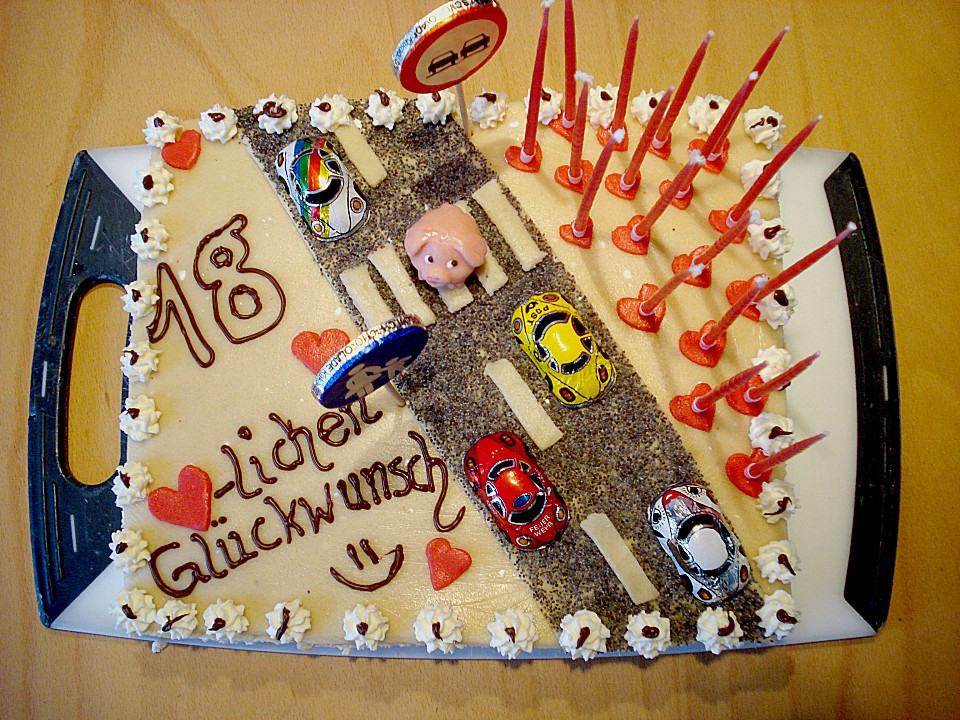 Geburtstagstorte 18. Geburtstag  Führerschein Torte zum 18 Geburtstag von cityfield2000