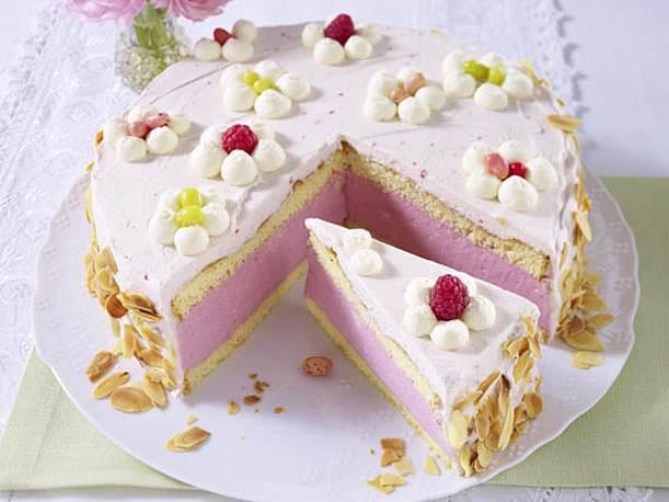 Geburtstagstorte Rezept  Himbeer Quark Sahne Torte Rezept