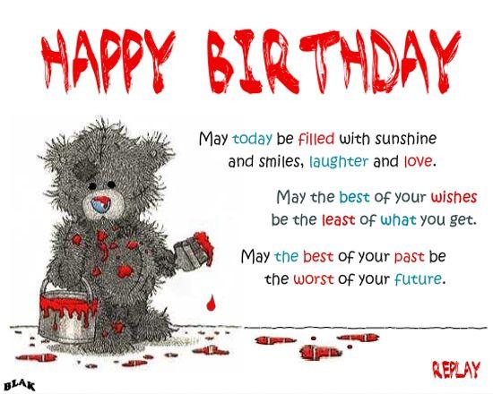 Geburtstagswünsche Englisch Lustig  Geburtstagswünsche englisch