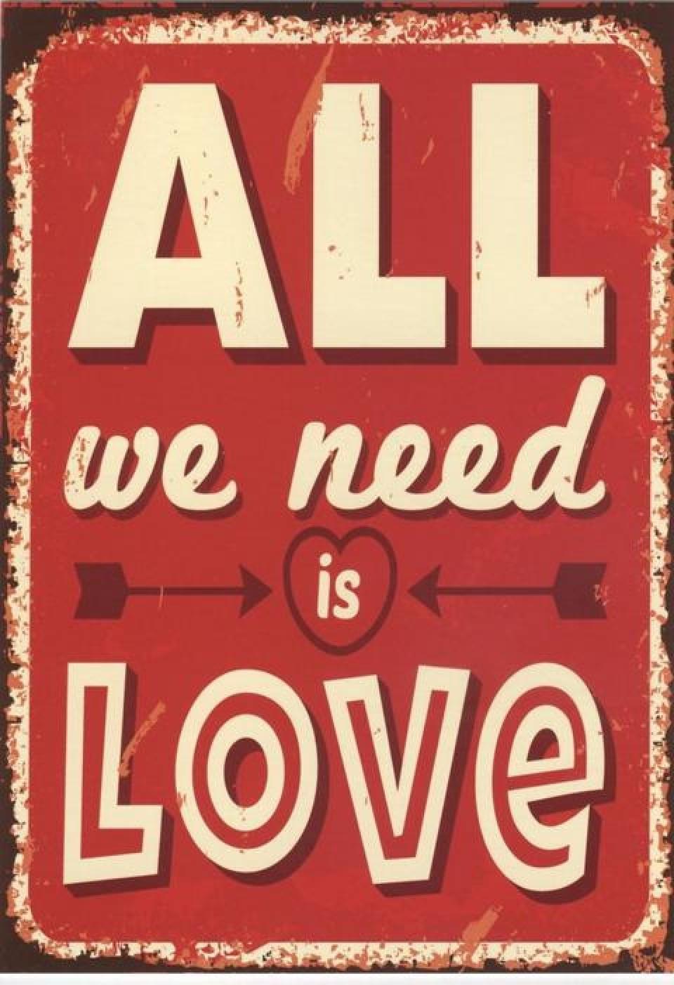 Geburtstagswünsche Englisch Lustig  Postkarten Sprüche Englisch All we need is Love