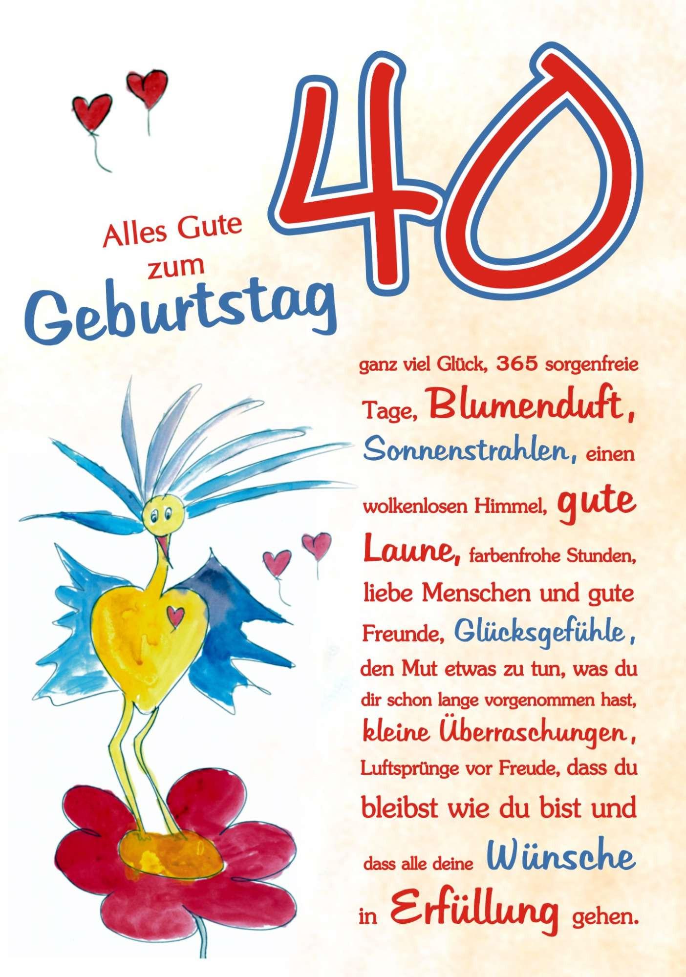 Geburtstagswünsche Zum 40 Frau  40 Geburtstag RSC Karten