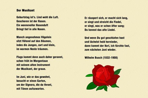 Gedichte Diamantene Hochzeit Wilhelm Busch  Gedicht Cliparts
