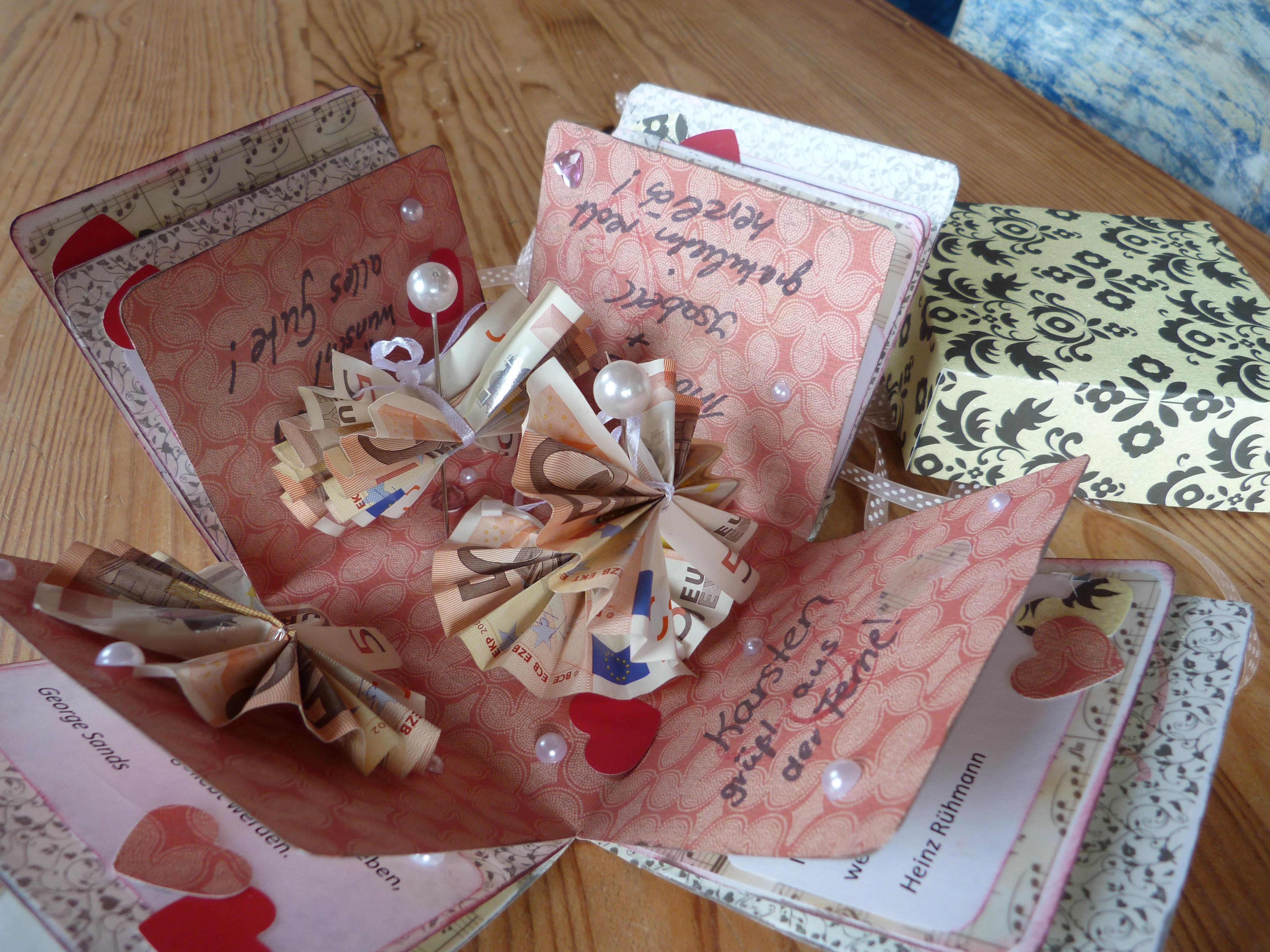 Geld Zur Hochzeit Verpacken  Geldgeschenk verpacken