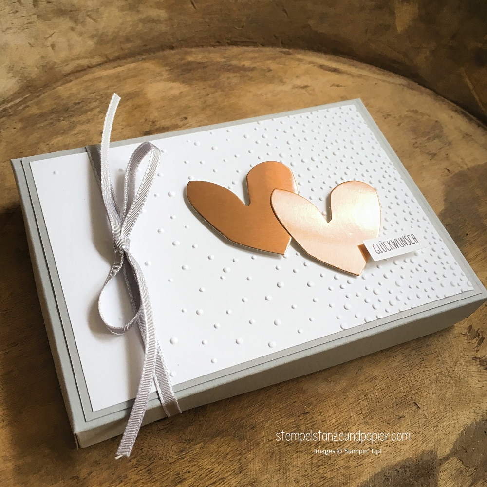Geld Zur Hochzeit Verpacken  Geldgeschenk zur Hochzeit verpacken Stempel Stanze und