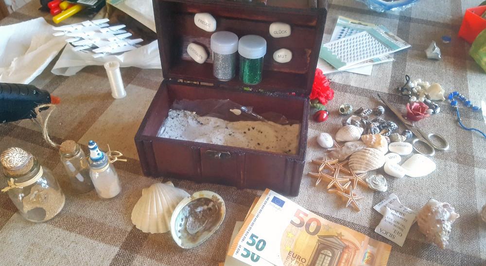 Geldgeschenke Hochzeit Basteln Sand  Geldgeschenke Hochzeit Basteln Sand