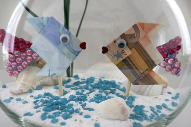 Geldgeschenke Hochzeit Basteln Sand  Geldgeschenke zur Hochzeit schön verpackt
