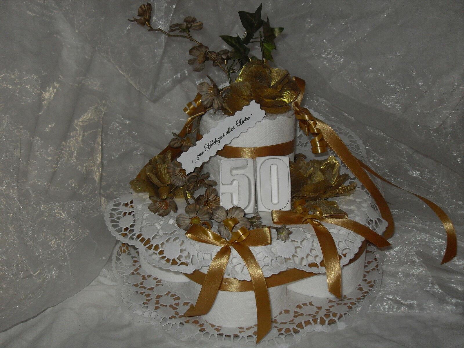 Geschenk Für Goldene Hochzeit  GOLDENE HOCHZEIT TORTE Geldgeschenk Geschenk EUR 28 99