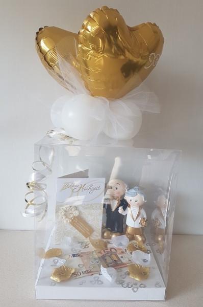 """Geschenk Für Goldene Hochzeit  Gabis Ballonerie Geschenk Box """"Goldene Hochzeit"""""""