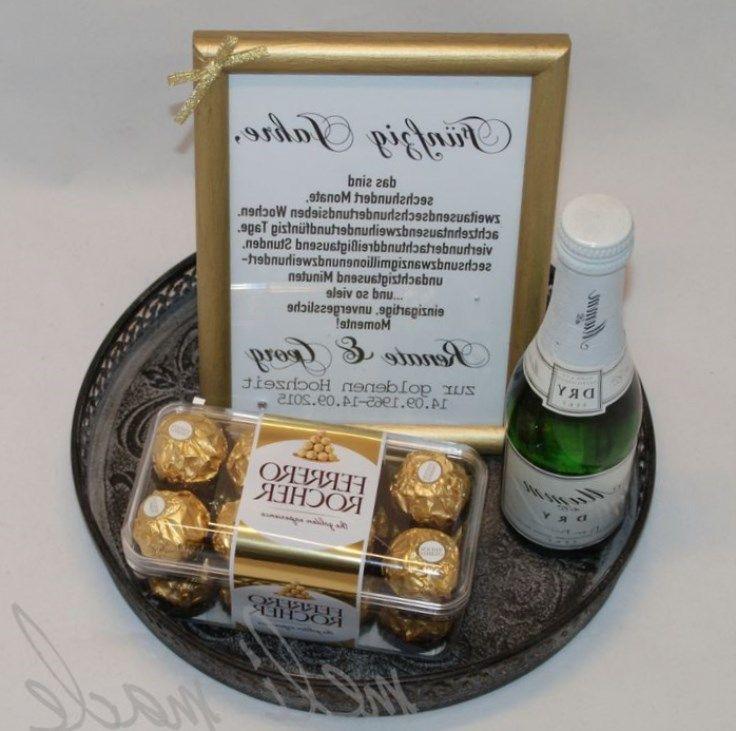 Geschenk Für Goldene Hochzeit  Goldene hochzeit geschenk selber basteln