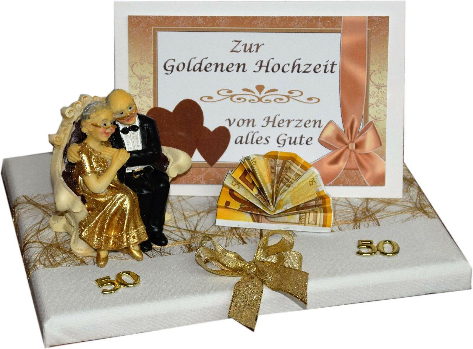 Geschenk Für Goldene Hochzeit  GESCHENK GELDGESCHENK ZUR GOLDENEN HOCHZEIT GOLDENE