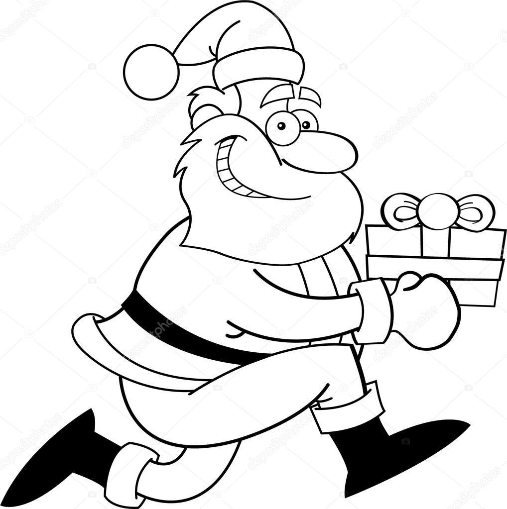 Geschenke Clipart Schwarz Weiß