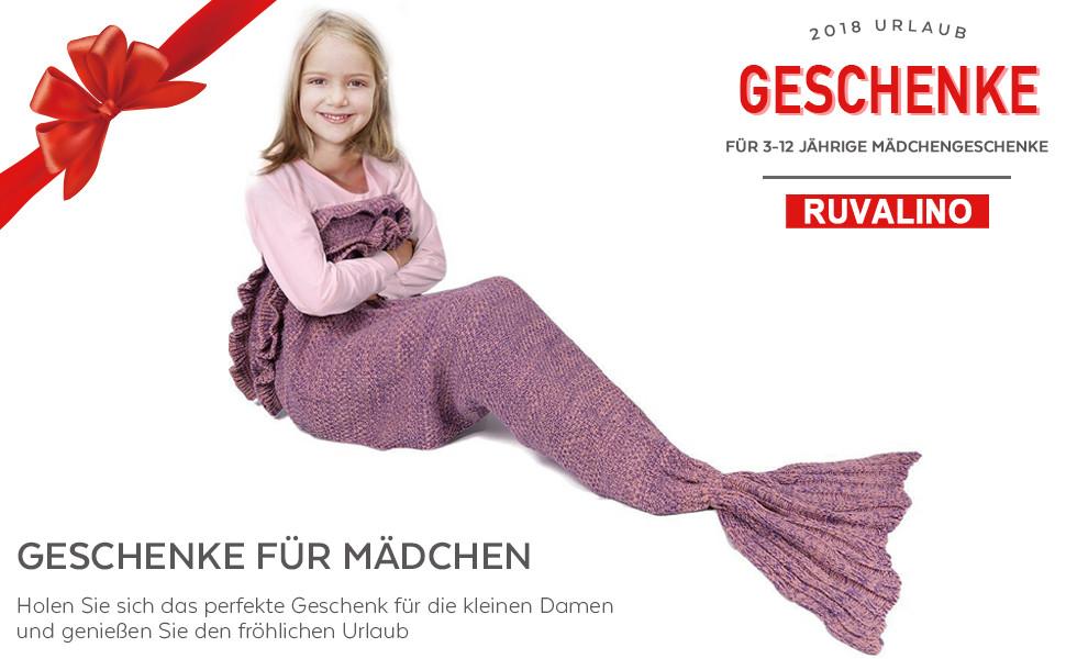 Geschenke Für 12 Jährige Mädchen  RUVALINO Meerjungfrau Schwanz Decke für Geburtstags