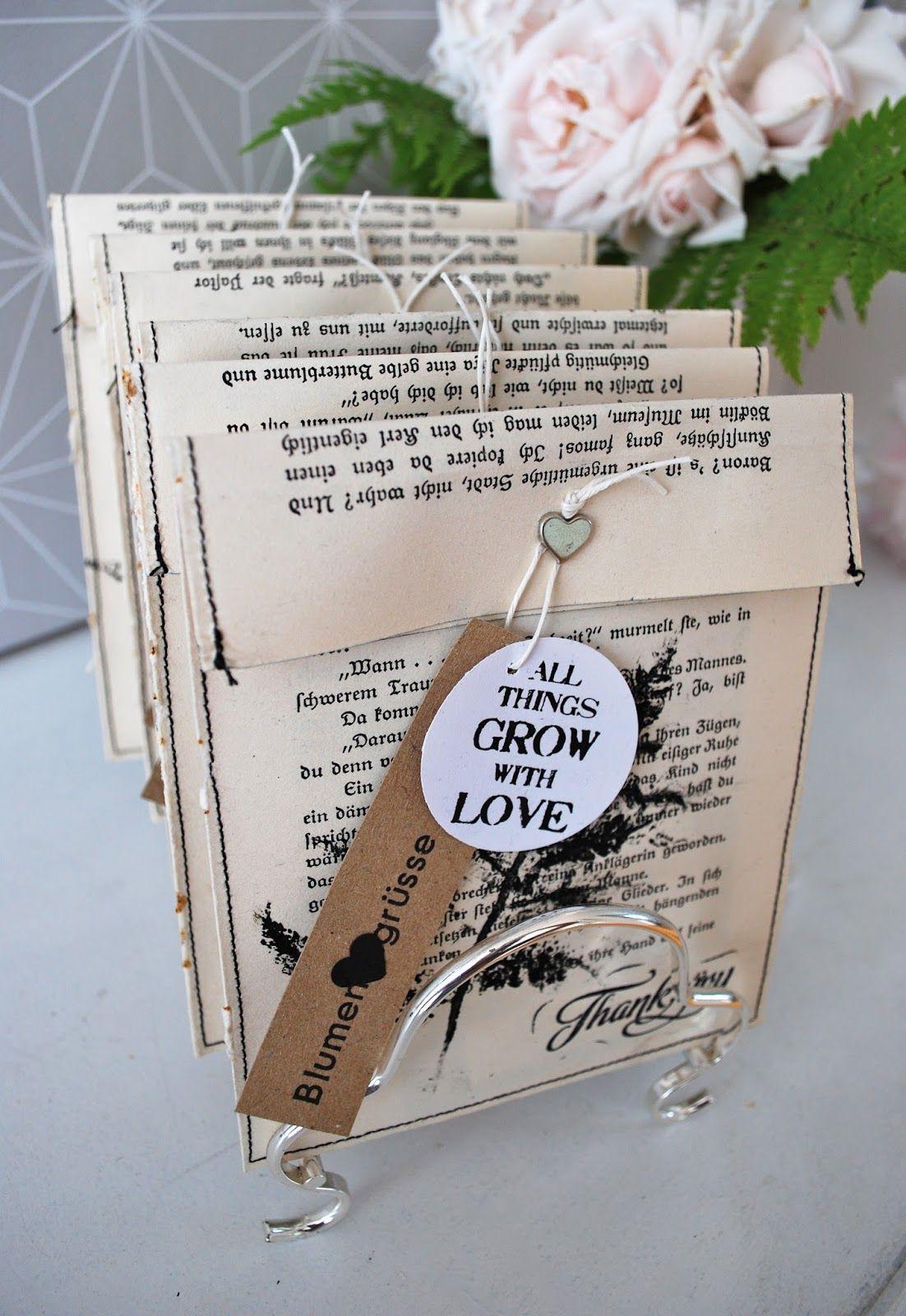 Geschenke Für Alte Leute  mamas kram Umschläge mit Pflanzendruck