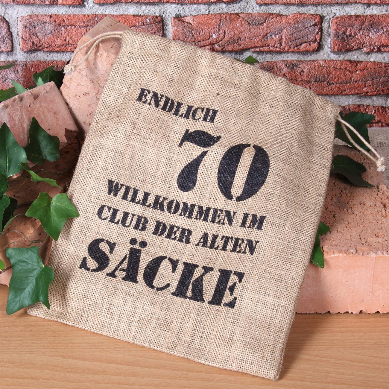 Geschenke Für Frauen Ab 70  Alter Sack mit Jahreszahl 70